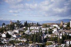 View over Albaicin, the old Arab quarter of Granada, Spain Stock Photos