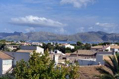 View over Alcudia City Royalty Free Stock Image