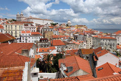 View over Alfama / Lisbon. The Alfama is the oldest part of the portuguese capital Lisbon stock photos