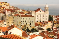 View over Alfama quarter. Lisbon . Portugal Stock Photography
