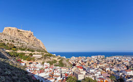 View over Alicante Spain to the Mediterranean Stock Image