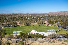 View over Alice Springs royalty free stock image