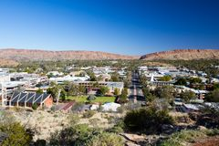 View over Alice Springs Royalty Free Stock Images