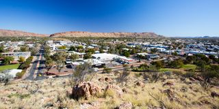 View over Alice Springs Royalty Free Stock Photography