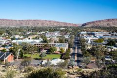 View over Alice Springs Stock Image