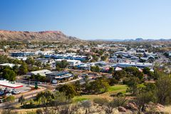 View over Alice Springs Stock Photography