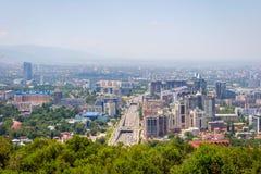 View over Almaty skyline Stock Photography
