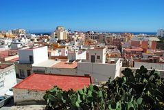 View over Almeria city rooftops. Stock Photo