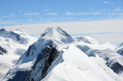 View over the Alps from the Breithorn summit, Zermatt, Switzerland Stock Images