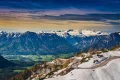 View over the Alps from the Loser place, Austria Stock Images