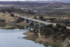 View over the Alqueva bridge  Portugal Royalty Free Stock Image