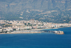 View over Altea, Spain. View over Altea, province of Alicante on the Costa Blanca in Spain Stock Photo