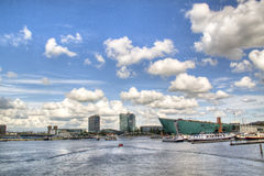 View over the Amstel in Amsterdam Royalty Free Stock Photos