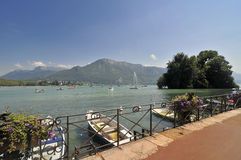 View over Annecy lake Stock Images