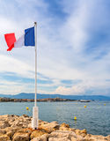 View over Antibes bay from Cap d`Antibes Royalty Free Stock Images