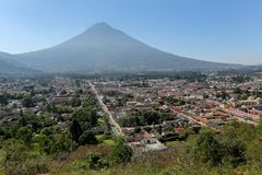 View over Antigua City. In Guatemala Royalty Free Stock Photo