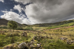 View over Aoineadh Mor Clearances in Ardnamurchan, Scotland. Stock Photography