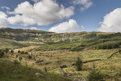 View over Aoineadh Mor Clearances in Ardnamurchan, Scotland. Royalty Free Stock Images