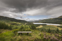 View over Aoineadh Mor & Loch Doire nam Mart in Ardnamurchan in Scotland. Stock Photography