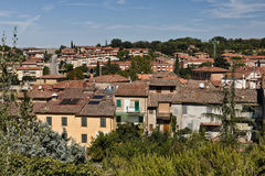 View over Asciano, Italy Stock Images