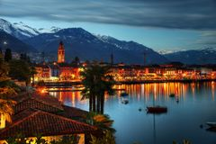 View over Ascona in Switzerland stock photos