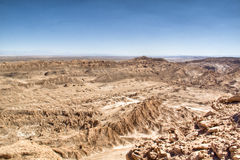 View over the Atacama desert. In Chile Royalty Free Stock Photo