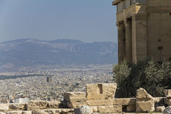 View over Athens from acropolis hill. Greece Royalty Free Stock Photo