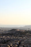 View over Athens city Royalty Free Stock Images