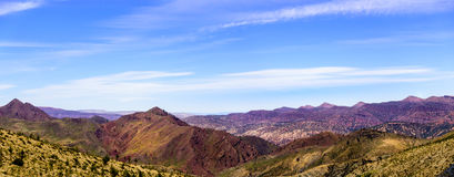 View over the Atlas mountains. From the top of the mountain. Panorama royalty free stock images