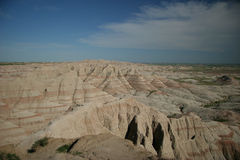 View over Badlands National Park Stock Photos