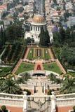 View Over Bahai Gardens Haifa Royalty Free Stock Photography