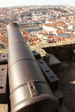 View over Baixa and Avenida from Castelo de Sao Jorge. Lisbon. Portugal Royalty Free Stock Photos