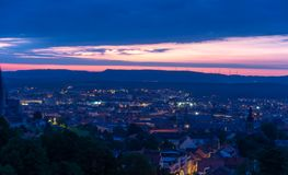 View over Bamberg at sunrise Royalty Free Stock Photography