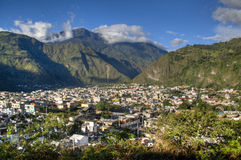 View over Banos. View over the town of Banos in Ecuador Stock Photos