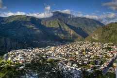 View over Banos. View over the town of Banos in Ecuador Royalty Free Stock Images