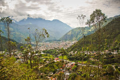 View over Banos. View over the town of Banos in Ecuador Royalty Free Stock Photo