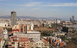 View over Barcelona. Catalonia. Spain Royalty Free Stock Images