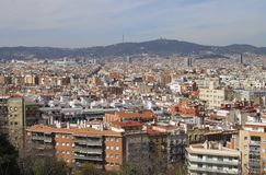 View over Barcelona. Catalonia. Spain Stock Photos