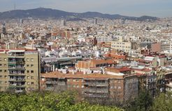 View over Barcelona. Catalonia. Spain Royalty Free Stock Photography