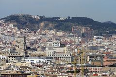 View over Barcelona. Catalonia. Spain Royalty Free Stock Photo