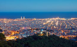 View over Barcelona at dawn Stock Images