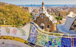 View over Barcelona from Park Guell Royalty Free Stock Images