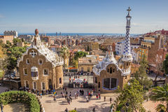 View over Barcelona from Park Guell Royalty Free Stock Photo