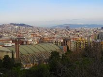 View over Barcelona in spring on Holiday. royalty free stock photo