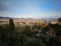View over barcelona in spring. royalty free stock photography