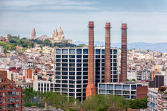 View over Barcelona Stock Images