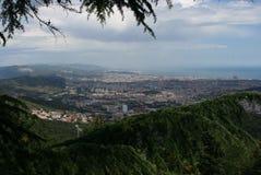 View over Barcelona stock photos