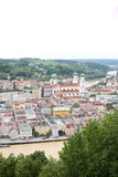 Scenic view over Passau. View over bavarian town of Passau Royalty Free Stock Photos