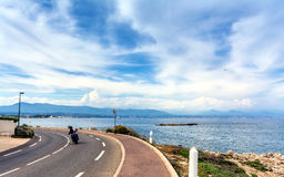 View over the bay from Cap d`Antibes, Antibes. Royalty Free Stock Images