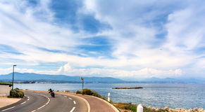 View over the bay from Cap d`Antibes, Antibes. Royalty Free Stock Image